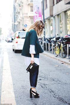 Milan Fashion Week Spring/Summer 15 #MFW Street Style Jeans Peplum