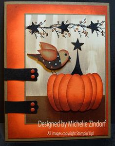 Bird & Pumpkin Stampin' Up! card created by Michelle Zindorf