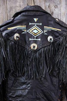 Vintage Hand-Painted Leather Jacket