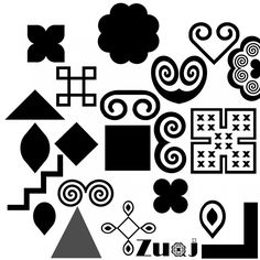 Hmong patterns that I would love to form into a tattoo pattern down the side of my thigh...