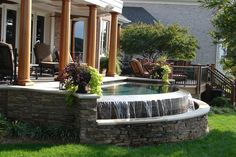Raised Spa with Spillover - NC