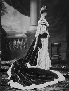 The Duchess of Marlborough (Consuelo Vanderbilt) in her robes for the coronation of King Edward VII of the United Kingdom (1902)