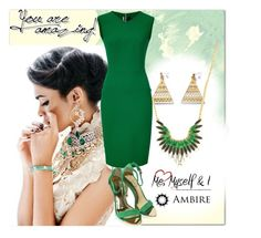 """""""Ambire Jewellery #9"""" by sanela-trebinjac ❤ liked on Polyvore featuring Roland Mouret, Ted Baker, Elegant, jewellery, goldjewelry and ambire"""