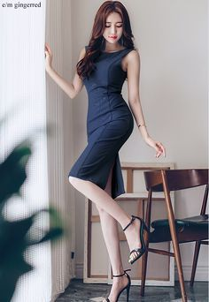 milkcocoa(MT) daily 2018 feminine & classy look - Her Crochet Beautiful Asian Women, Beautiful Legs, Fashion Models, Girl Fashion, How To Look Classy, Business Outfits, Asian Fashion, Women's Fashion Dresses, Asian Woman