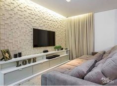 Marvelous Basement Home Theater Ideas Design Living Room Tv, Home And Living, Home Theater Decor, Home Decor, Tv Wall Decor, Design Case, Living Room Designs, Family Room, New Homes