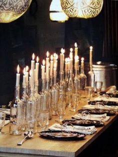 Bottles candelabrum.