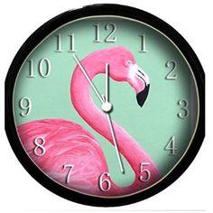 Glow In the Dark Wall Clock - Pink Flamingo