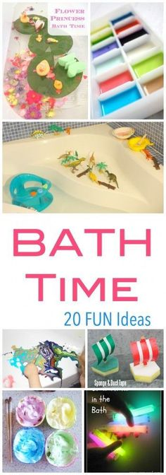 20 Fun Ideas to turn bath time into a fun kids activity - all while washing!! {pacific kid}