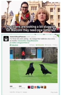 The return of Malcolm (in name) - Lee Evans!!  That made me laugh thinking of him putting batteries in ravens!