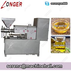 Best Hemp Seed Oil Cold Press Machine Flax Oil Extraction Equipment Suppliers This screw hemp oil extraction machine is mainly used for individual processing and commercial use.  Contact Serena: Skype: serenayan666 Email: serena@machinehall.com Whatsapp/Mobile: +8618595717505