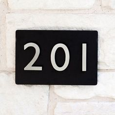 Urban Mettle First Impression 3 Number 1-Line Wall Address Plaque Font Color: Brass, Plaque Color: Black, Customize: Yes