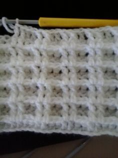 Claire's Crafts: Waffle Stitch is so easy to make and it looks like a waffle indeed. Great for blankets insulates and keeps you warm.