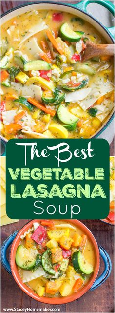 This vegetable lasagna soup is loaded with– you guessed it, all the veggies!! It's super filling and satisfying comfort food that the whole family will love! Vegan.