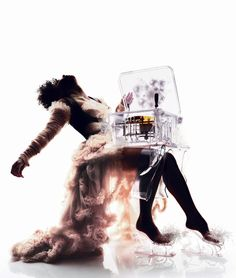 Nick Knight, Bjork in Alexander McQueen dress for the live at the Royal Opera House cover Shoot.