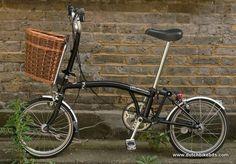 Brompton with David Hembrow willow basket