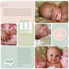 Baby Digital Scrapbook #babybook #digitalscrapbooking #projectlife #scrapbook