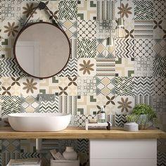 Porcelanatos Decorados Be Square y Be Square Easy – EMIL de… – Decoration Ideas Bathroom Styling, Bathroom Interior Design, Remodeling Mobile Homes, Home Remodeling, Patio Design, Ux Design, Tile Design, Ideas Baños, Decor Ideas