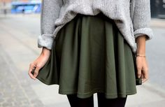 skater skirt and sweater *