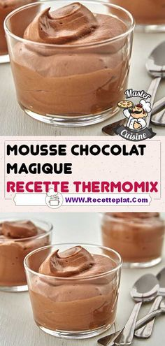 Creme Dessert, Dessert Mousse, Desserts Thermomix, Easy Desserts, Cooking Chef, Nutella, Caramel, Deserts, Brunch