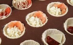 Фуршетные закуски буше с овощными и рыбными начинками: