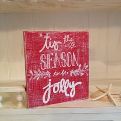 Tis the Season Wood Sign Christmas Wood Sign by NotJustSigns