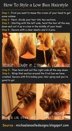 How To Style a Low Bun Hairstyle