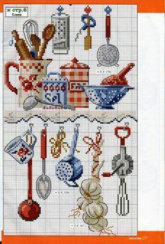 217 Fantastiche Immagini Su Punto Croce Cucina Cross Stitch