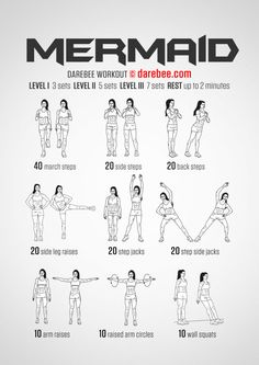 Mermaid Workout, or oh, look, a workout I can actually do. - Tap the pin if you love super heroes too! Cause guess what? you will LOVE these super hero fitness shirts! Fitness Workouts, Hero Workouts, Fitness Motivation, Fit Girl Motivation, At Home Workouts, Fitness Tips, Health Fitness, Office Workouts, Health Diet