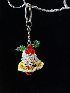 final look of the beaded Christmas bell craft
