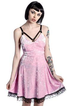 Adora Velvet Crush Dress [PINK] | KILLSTAR