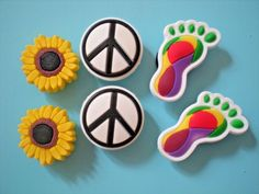 Clog Shoe Charm Button For Accessorie For Wristband Rainbow Coffee