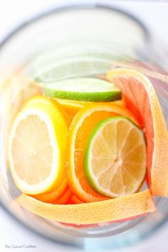 Sparkling Citrus Coconut Water - a beautiful and refreshing drink recipe made with citrus fruit and sparkling pineapple coconut flavored water.