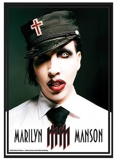 """Vintage Marilyn Manson """"Golden Age of Grotesque"""" fabric poster"""
