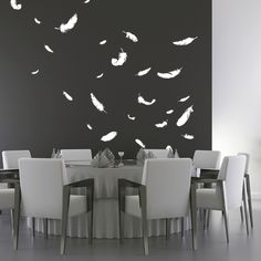 Wall Decals | Urban Wall Art | Wall Decal Feathers | Voilà! wall stickers USA
