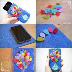 Up felt phone case Felt Phone Cover, Diy Phone Case, Iphone Cases, Iphone 6, Phone Covers, Coque Ipod, Coque Smartphone, Felt Diy, Felt Crafts