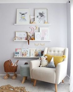 20 Simple & Trendy Wall Decor Ideas With Your Photos, Posters & Posters – little girl rooms Baby Boy Nursery Room Ideas, Baby Bedroom, Baby Room Decor, Girls Bedroom, Nursery Decor, Toddler Bedroom Ideas, Baby Room Wall Art, Room Baby, Baby Art