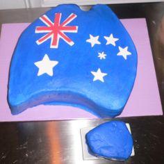 Aussie flag birthday cake