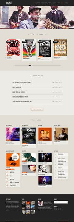 25+ BEST Entertainment WordPress Themes #web #design #music