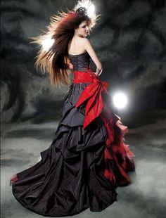 A dress fit for a queen, a vampire queen.