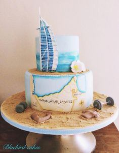 Dubai themed cake - Cake by Zoe Smith Bluebird-cakes