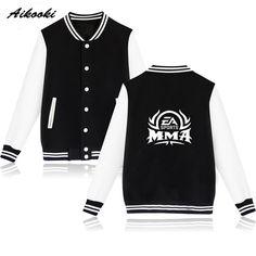 Trendy Popular MMA Match Baseball Jacket Capless Winter Hoodies Men Casual UFC Sweatshirt Women Fashion Jacket Coat Clothes 2xl #Affiliate