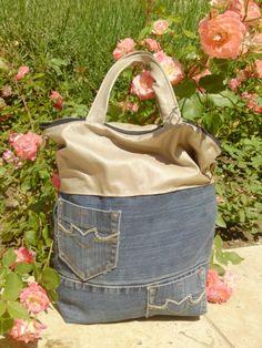 Szuper mindennapi  farmer-műbőr női táska, Táska, Válltáska, oldaltáska, Tökéletes minden napi használatra,ez műbőr és farmer anyagból készült táska.  Táska mére..., Meska