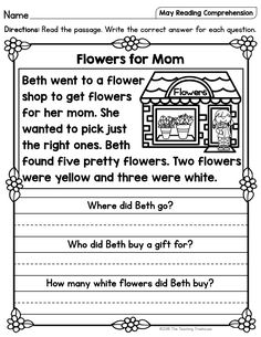 Pictures gallery of first grade nonfiction reading comprehension worksheets First Grade Reading Comprehension, Phonics Reading, Reading Comprehension Worksheets, Reading Passages, Kindergarten Reading, Reading Activities, Guided Reading, English Worksheets For Kids, 1st Grade Worksheets
