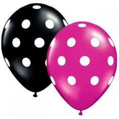 Pink and black balloons for my minnie mouse theme :)