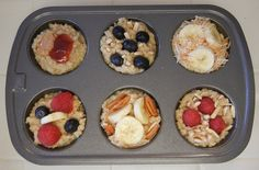 Quick Breakfast: Frozen Oatmeal Discs. Great use for leftover oatmeal. #Breakfast #Healthy #Recipes