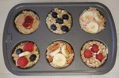 Quick Breakfast: Frozen Oatmeal Discs. Great use for leftover oatmeal. #Breakfast #Healthy #Recipes