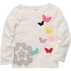 Carter's Long-Sleeve Butterfly Tee - 5y