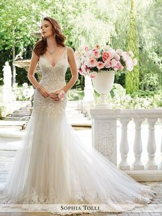 gown shoes on sale at reasonable prices, buy 2017 Wedding Dresses Sheath Wedding Gown V-Neck Appliques Bridal Dress Tulle vestidos de noiva Bridal Gowns from mobile site on Aliexpress Now! Spring 2017 Wedding Dresses, Bridal Dresses, Prom Dresses, Spring Wedding, Bridesmaid Dresses, Tulle Wedding, Wedding Gowns, Mermaid Wedding, Wedding Gown Gallery