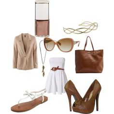 I don't think I would normally put brown and white together, but this is cute!