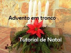 Advento em tronco - Tutorial de Natal